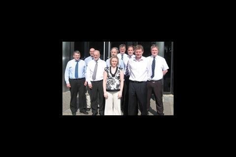 Back row: Kevin Peaper, John Senier, Derrick Woodcock, Momcilo Cetnik, Nick Surman and Ross Pattison. Front row: Chris Ross, Sherrie Winfield, Richard Ernest